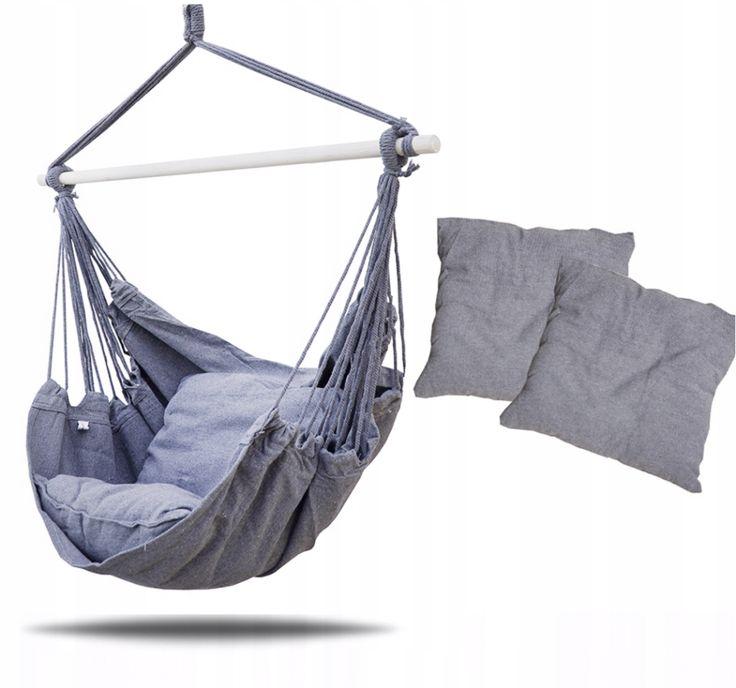 Hamak Krzeslo Brazylijskie Szary 2x Poduszka Xxl Decor Home Decor Outdoor Furniture