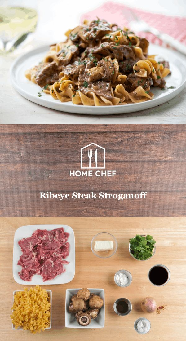 Home Chef sends the ribeye sliced, but when you're on your own, the meat department will slice it for you.