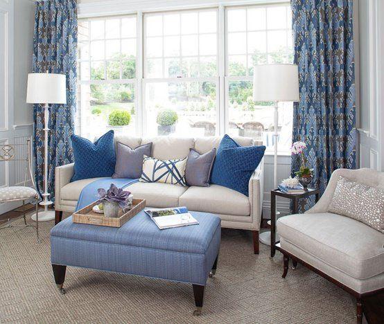 Ev Dekorasyonu Mavi Koltuk Takımları