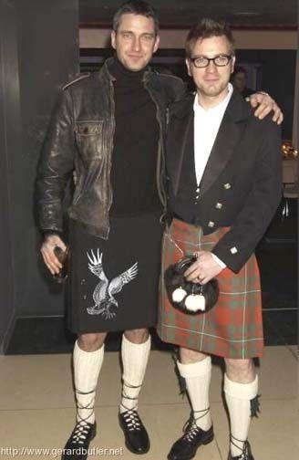 Two of my favorite Scotsmen in kilts - Gerard Butler and Ewan McGregor!