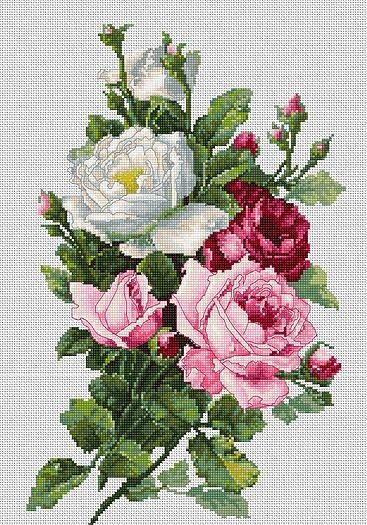 Cross Stitch Kits - Flowers