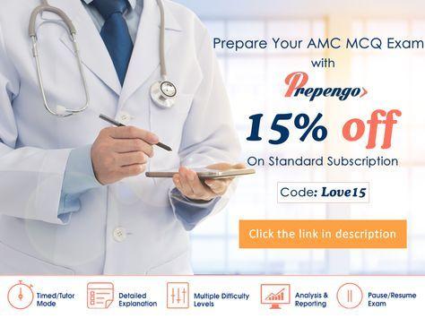 Prepare your AMC MCQ Exam with www.prepengo.com. Now offering 15% off on standard subscription. #amcexam #amcmcq #AustralianMedicalCouncil #medicalexam #amconline #amcexampreparation #Australia #India #Pakistan #Bangladesh