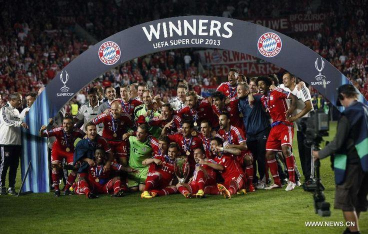 bayern munich stadium- UEFA Super Cup 2013 Winner