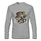 JuDian Thomas Rhett Crash And Burn Long Sleeve T Shirt For Men XXL