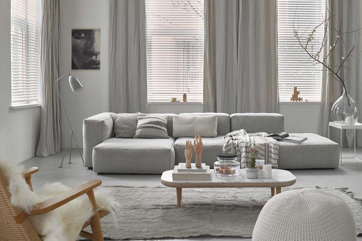 Grijze #gordijnen van Toppoint in de #woonkamer. #curtains #livingroom