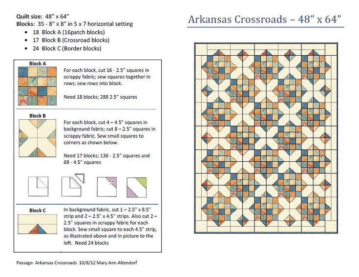 Quilt Pattern Crossroads Woodworking Projects Amp Plans