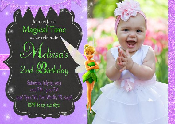 24 best Tinkerbell Fairies Birthday images – Tinkerbell Party Invitation