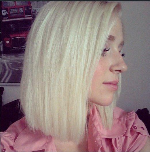 Swell Platinum Blonde Bob Pinterest Crafts Short Hairstyles Gunalazisus