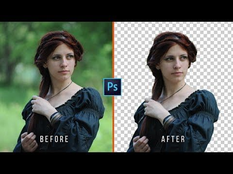 How to Change Background in Photoshop CC (Transparent) - YouTube