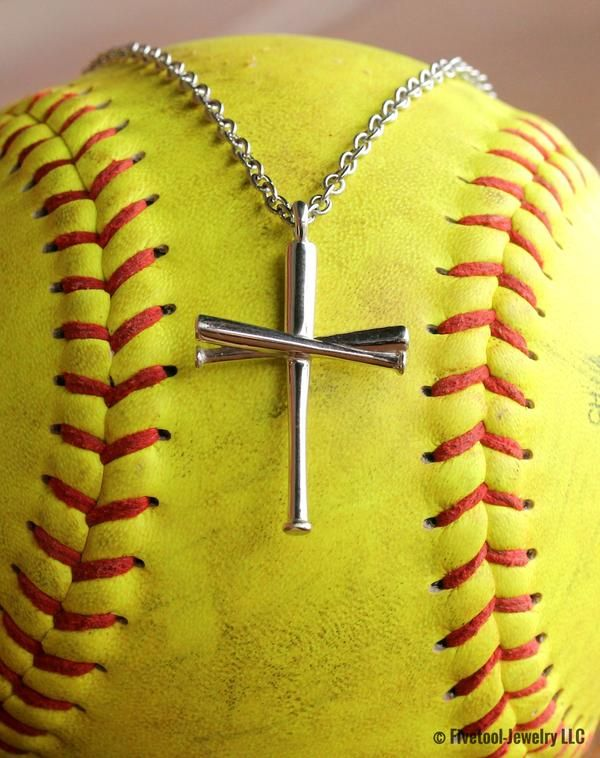 This softball bat cross is the best way to show your faith in God and your love of the game on and off the field! #softball