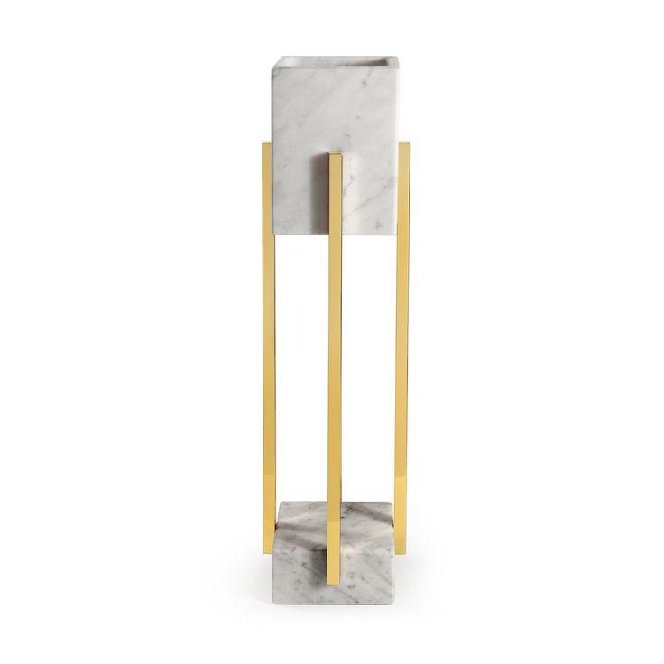 INSIDHERLAND | Looshaus table lamp by Joana Santos Barbosa influenced by Modernism and the Architecture of Adolf Loos. #insidherland #jsb #looshaus #walllamp #sconce #marble #carrara #brass #metal #marblelamp #lighting #modernlighting #contractlighting #marbledecor #design #luxurylighting #interiors #modernist #architectural #adolfloos #modernism #modernarchitecture