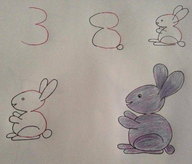 Kresby založené na číslach alebo učíme deti tvary čísel spojené s kreslením 2