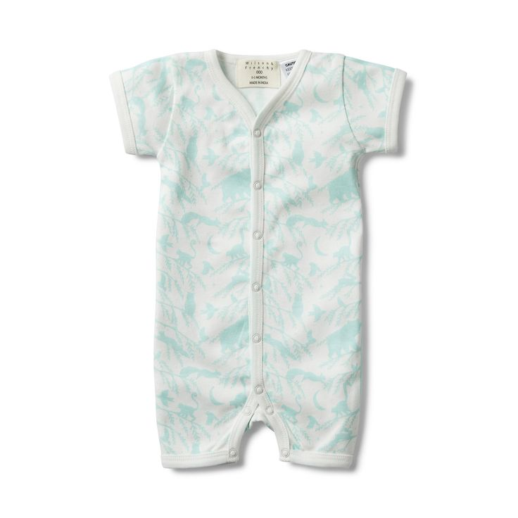 Wilson and Frenchy - Short Sleeve Open Front Growsuit