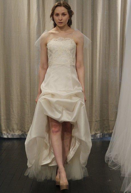 Kelima K - Spring 2013 - Souvenir d'un Paris Asymmetrical Silk and Lace Sheath Wedding Dress  $307.99 Kelima K