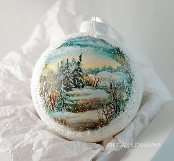Christmas Ornament Hand Painted by LaivaArt on Etsy, $50.00