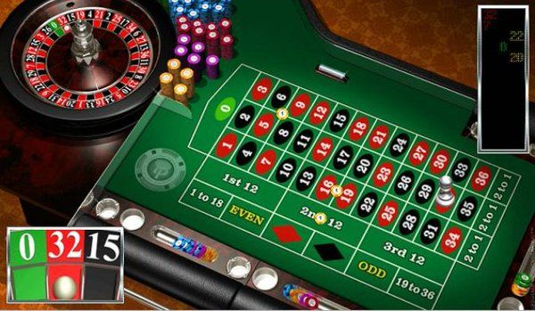 Online Casino Roulette Table