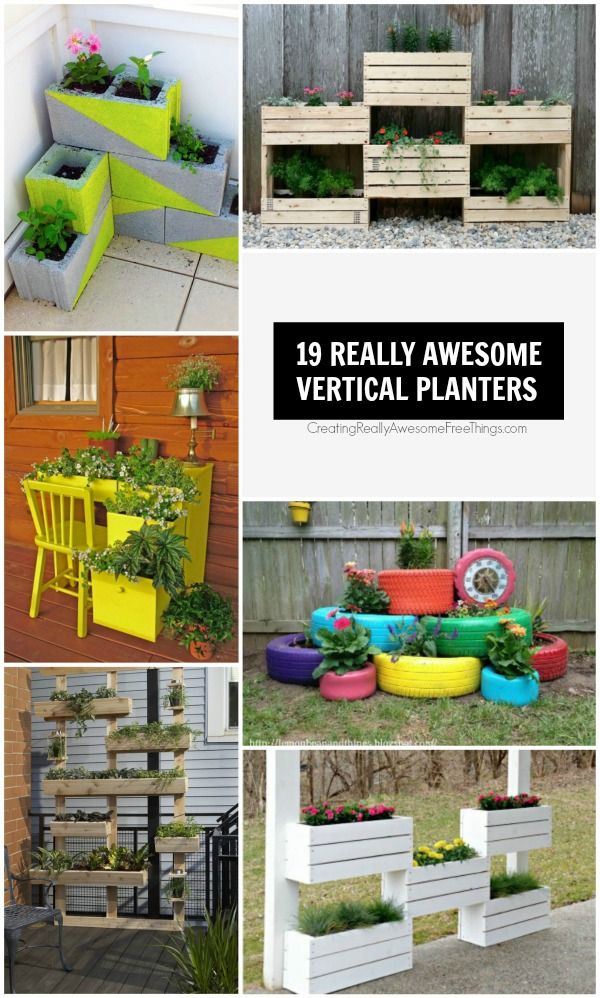 19 really clever vertical planters that even I can build!