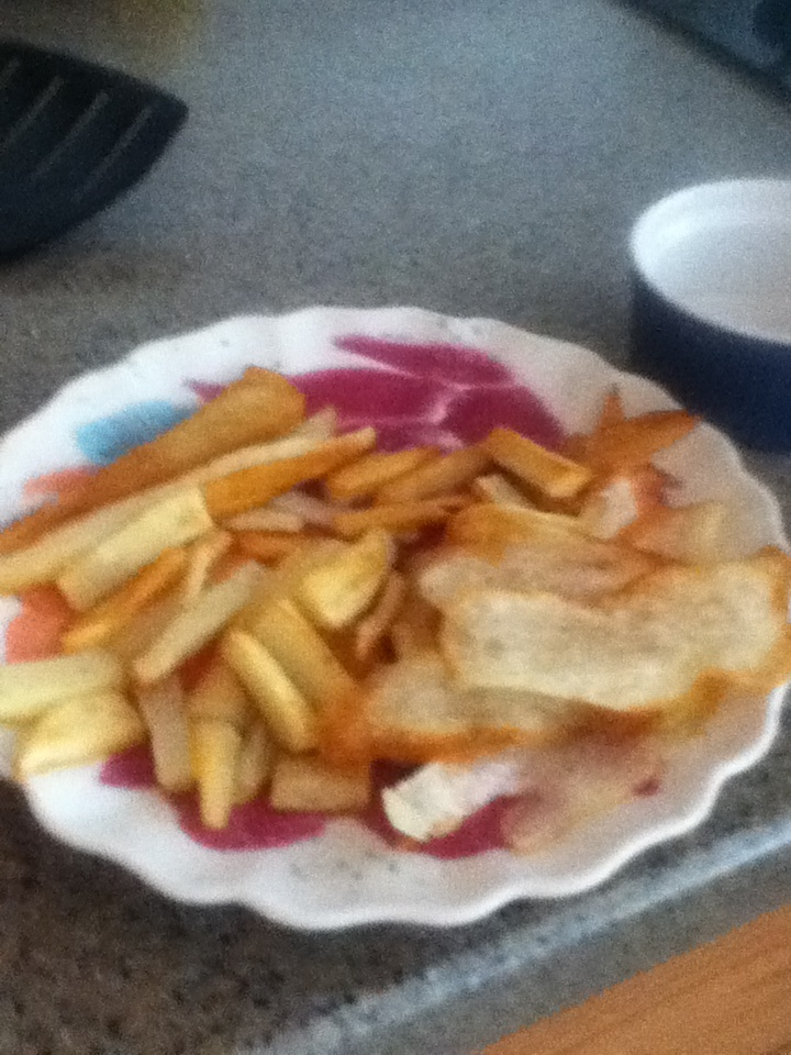 Made French fries with my cousin