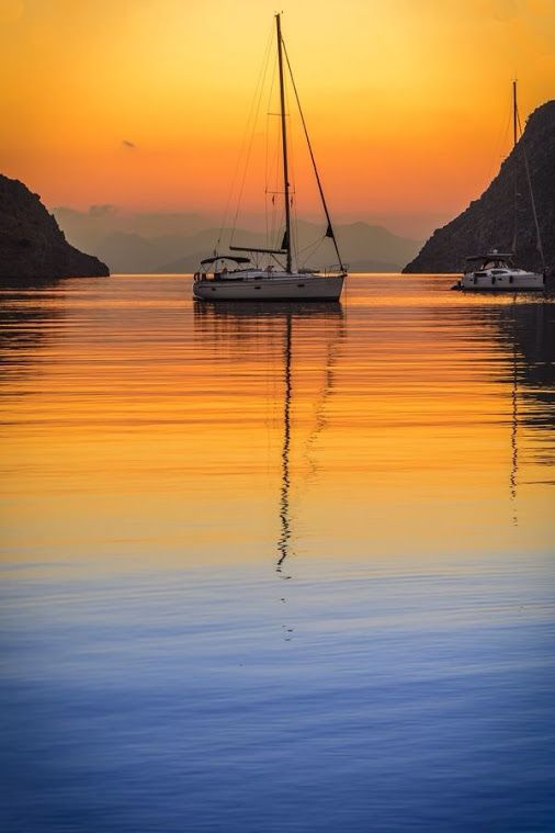 Beautiful sunrise, Symi Island, Greece