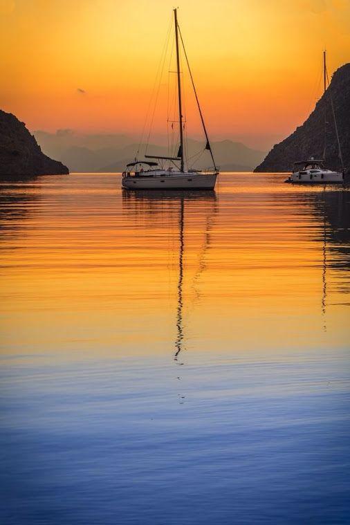 Beautiful sunrise, Symi Island, Greece