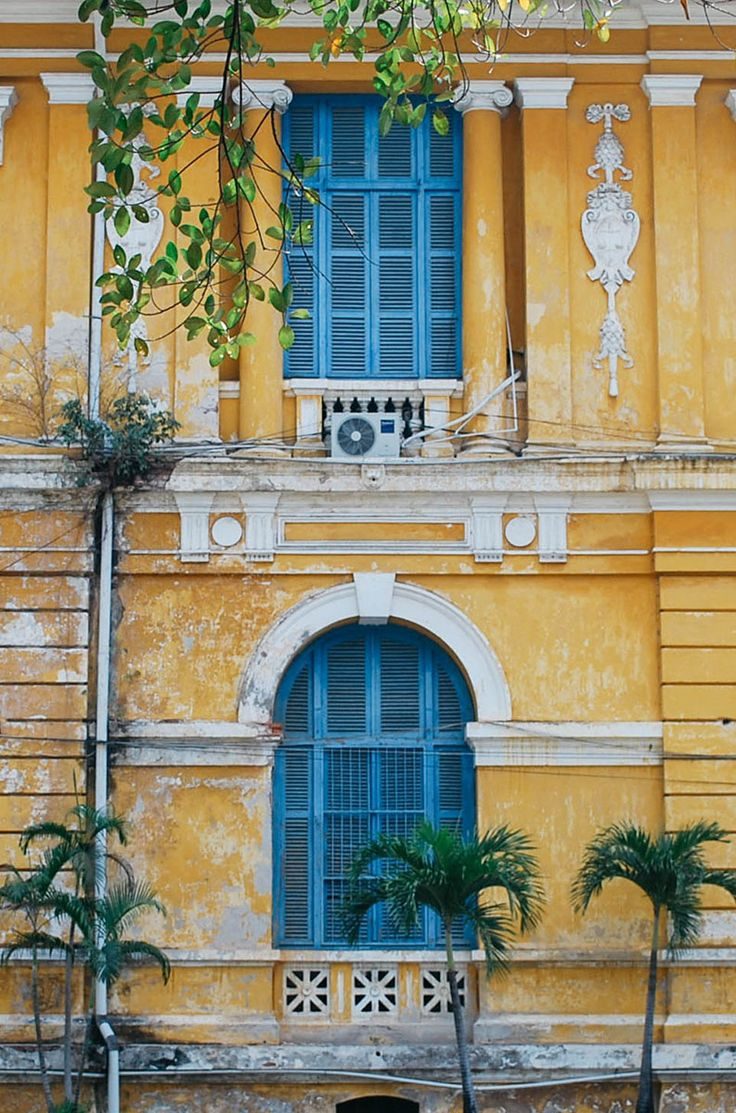 blue and yellow vibes in ho chi minh city, vietnam