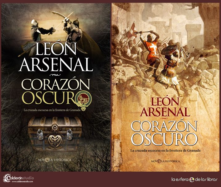 Mis diseños para las cubiertas de CORAZÓN OSCURO de León Arsenal en sus ediciones en tapa dura y la nueva edición en tapa blanda.