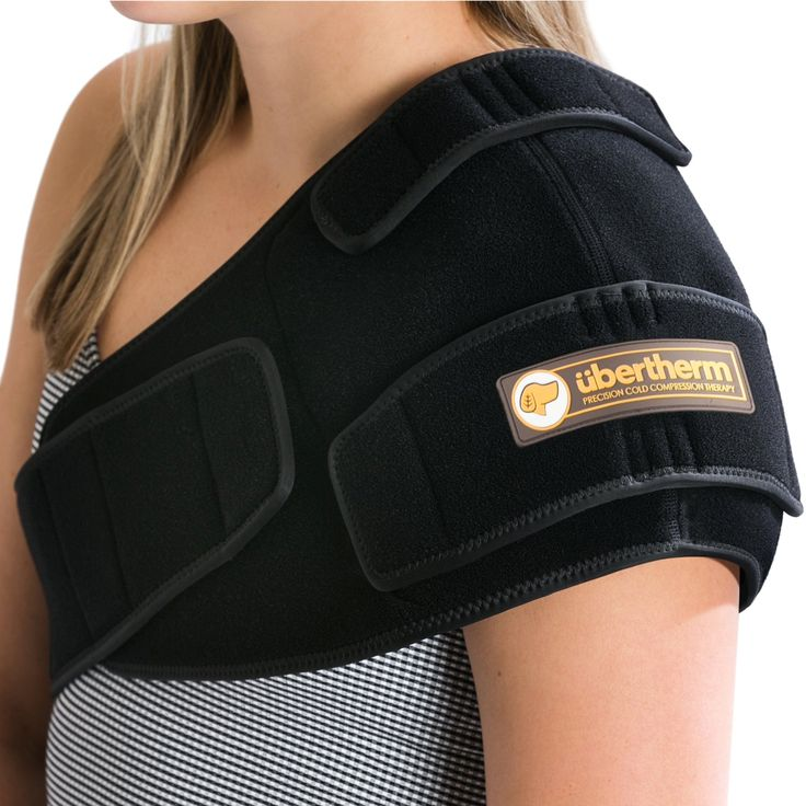 übertherm Shoulder Pain Relief Cold Wrap / Compression Ice Pack: New Ice Pillow Technology for Sting-Free Cold Therapy - LEFT