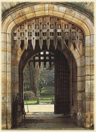 castle gate at Hever Castle- home of  the family of Ann Boleyn