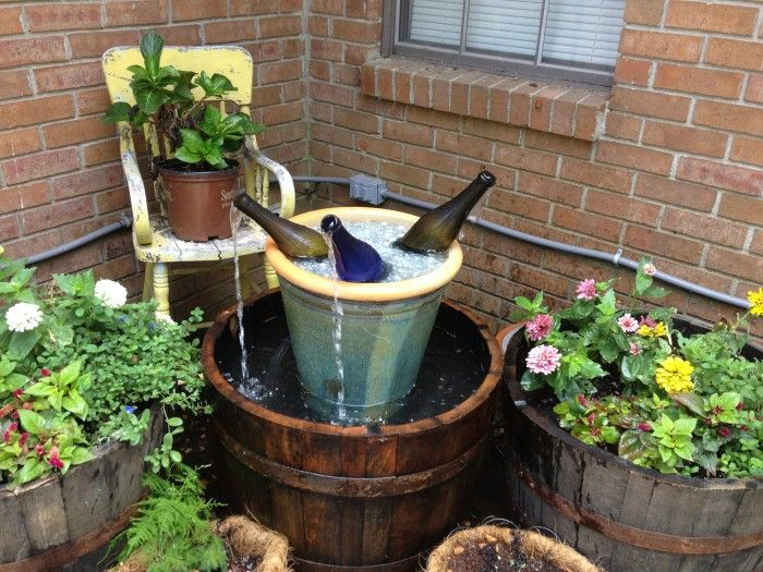 How To Make Cool Diy Wine Bottle Fountain 6 Wine Bottle Fountain Diy Water Feature Diy Water Fountain