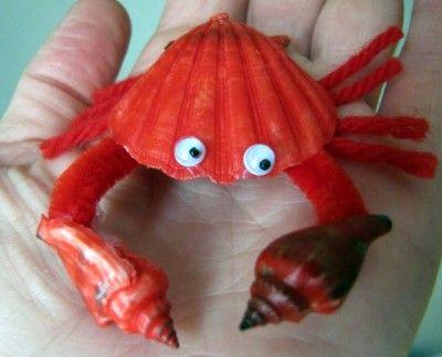 Seashell Crafts | Red Seashell Crab | Fun Family CraftsFun Family Crafts