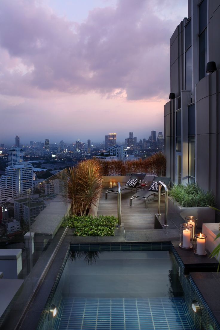 Our Magnifique Imperial Suite outdoor terrace with Jacuzzi #PinOfTheDay