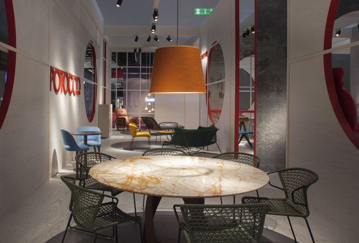 """Bright, shiny, full of amber veinings and with unmatchable robustness and duration features. It's the """"Breccia Romana"""" marble, the new material we have matched to the Bon Bon table's corten base"""