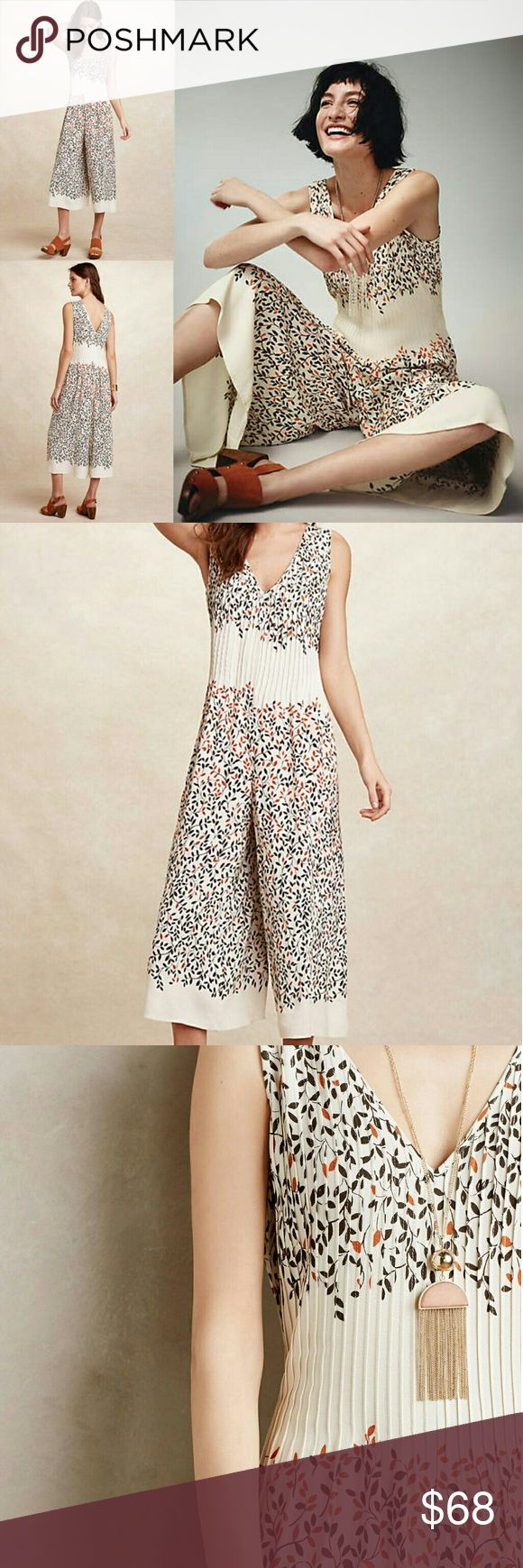Anthropologie Arboreta Jumpsuit Excellent Condition  Worn only twice Viscose Wide Leg Fit Pintuck detail Back zip Machine Wash Imported Anthropologie Dresses Maxi