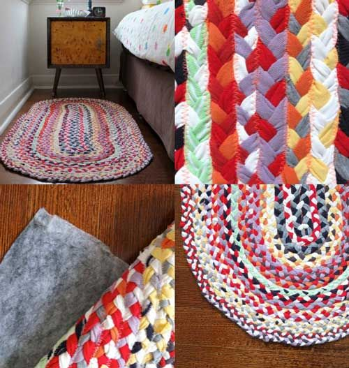 I know of several of my husbands t-shirts that could go to this cause ;) Braided T-shirt Rug.