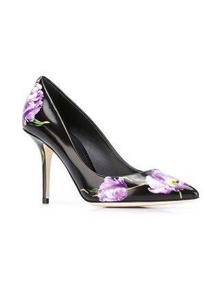 Dolce & Gabbana туфли-лодочки с принтом тюльпанов
