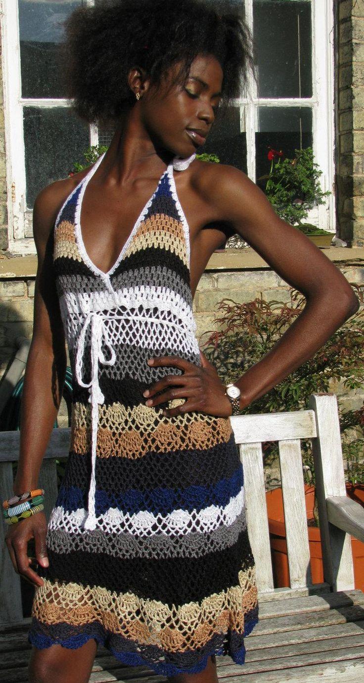 handmade crochet dress by TIMELESSTRADE on Etsy