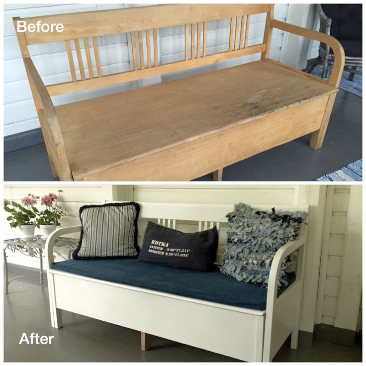 Wooden sofa redone