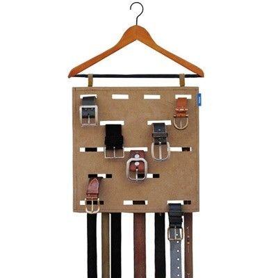 Genius way to store belts.    kangaroom男士领带收纳挂带 5057-无名良品