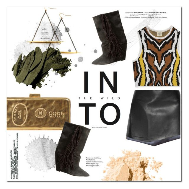 """Into the wild"" by tuilindo ❤ liked on Polyvore featuring Torn by Ronny Kobo, Esteban Cortazar, Isabel Marant, Bobbi Brown Cosmetics and Vision"