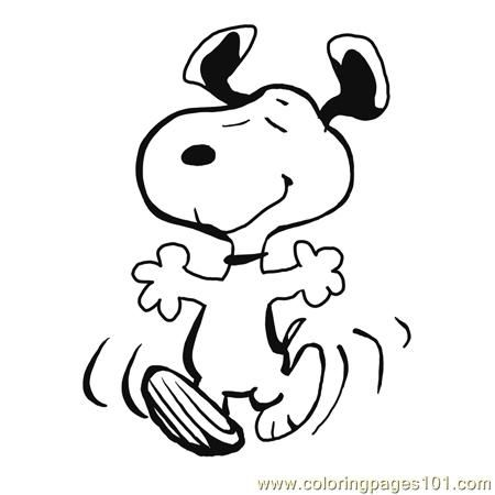 Printable Snoopy Pictures | ... printable coloring page Finished Snoopy Dancing (Cartoons > Snoopy