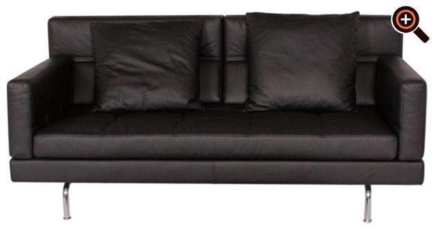 Designer couch leder braun  Modernes Sofa – Designer Couch fürs Wohnzimmer aus Leder – schwarz ...