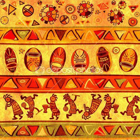Бесшовный фон с Африканской традиционной модели — Стоковое изображение #11015300