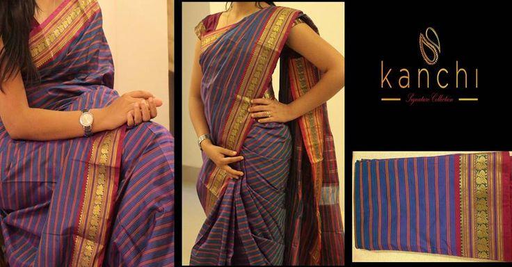 Purple kanchipuram saree.. Kanchi signature collection saree .. https://www.facebook.com/Kanchi-Signature-Collection-353807514697160/timeline/