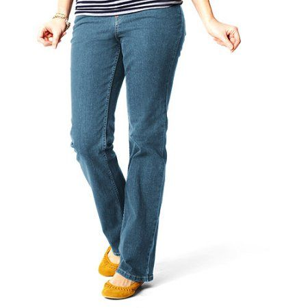 Signature by Levi Strauss & Co. - Women's Totally Slimming Mid-Rise Bootcut Jeans