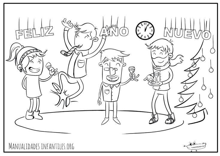 #DibujosdeAñoNuevo  para entretener a los peques esta noche. #FelizAñoNuevo http://www.manualidadesinfantiles.org/dibujos-de-ano-nuevo?utm_content=buffer4982a&utm_medium=social&utm_source=pinterest.com&utm_campaign=buffer