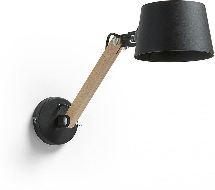 Wandlamp Move - Zwart - Metaal/Hout - La Forma