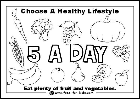 Healthy Eating Worksheets For Children Can Make Into A