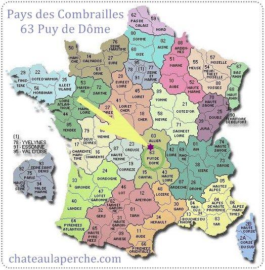 Des Combrailles * se trouve presque au centre géographique de la France ... #chateaulaperche Chambres d'Hôtes