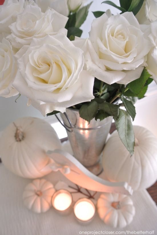 Fall Decor and Bridal Shower Ideas: Pumpkins and Jars!