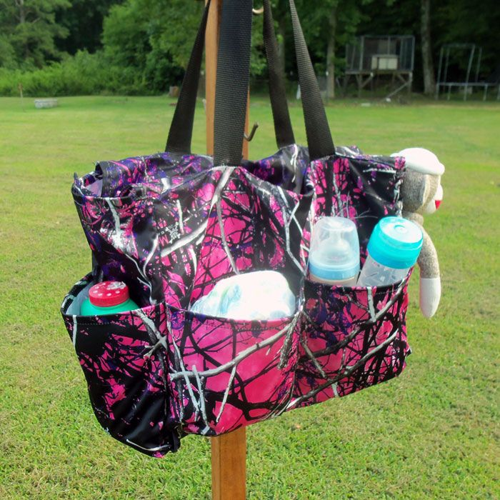 Pink Camo Diaper Bag made with Muddy Girl
